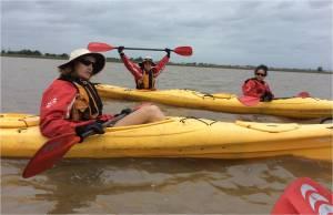 Team kayak to black willow sites